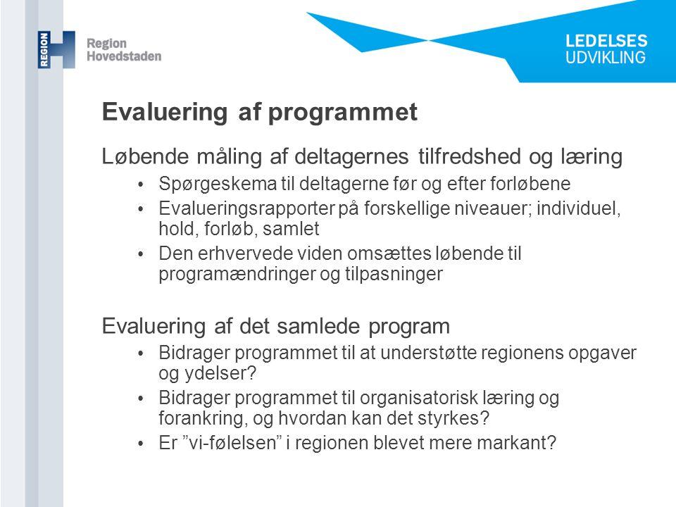 Evaluering af programmet