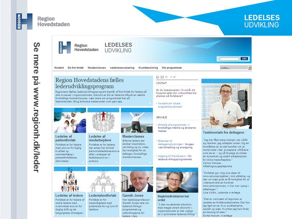 Se mere på www.regionh.dk/leder