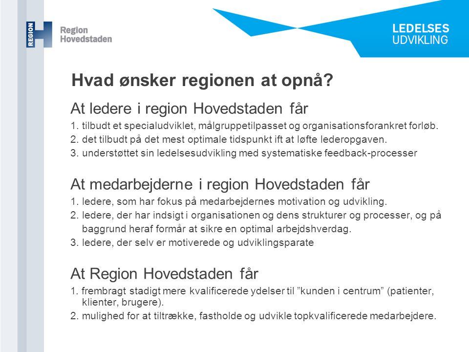 Hvad ønsker regionen at opnå