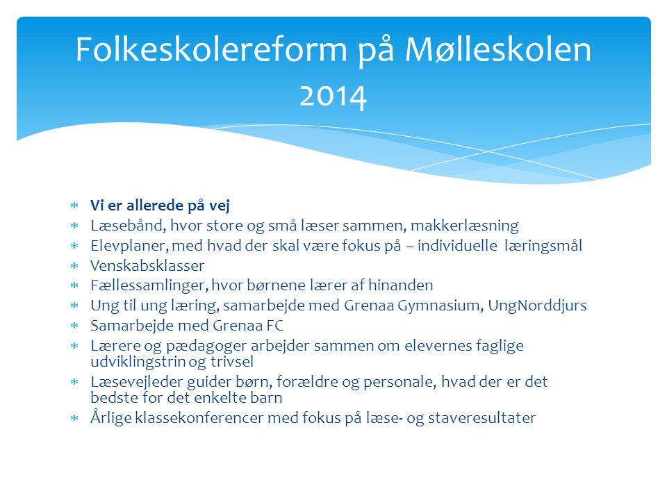 Folkeskolereform på Mølleskolen 2014