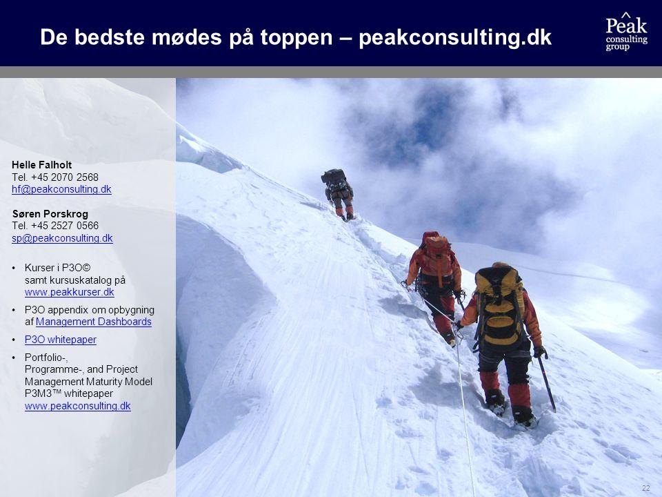 De bedste mødes på toppen – peakconsulting.dk
