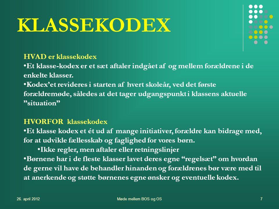 KLASSEKODEX HVAD er klassekodex