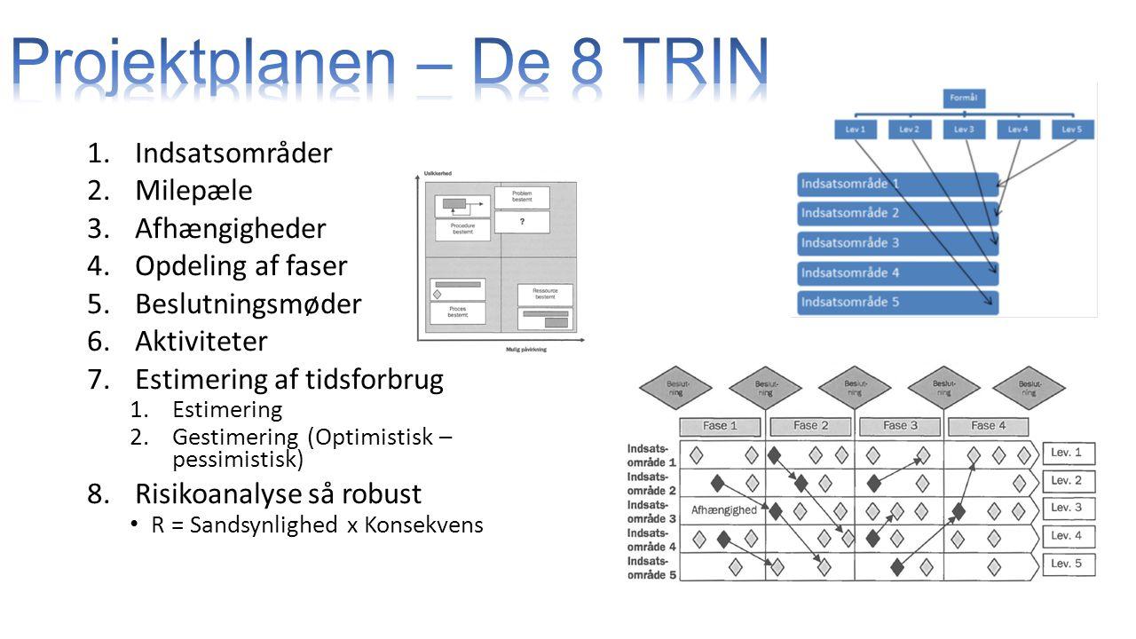 Projektplanen – De 8 TRIN