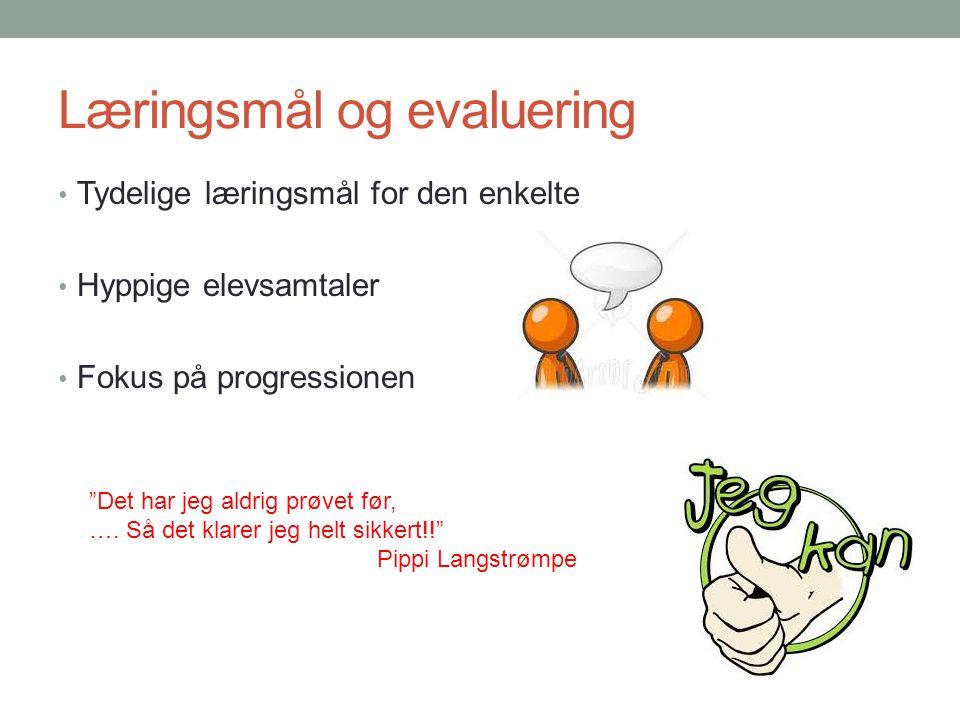 Læringsmål og evaluering