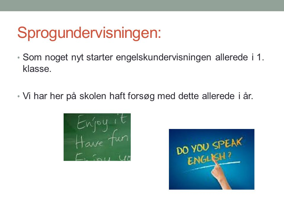 Sprogundervisningen: