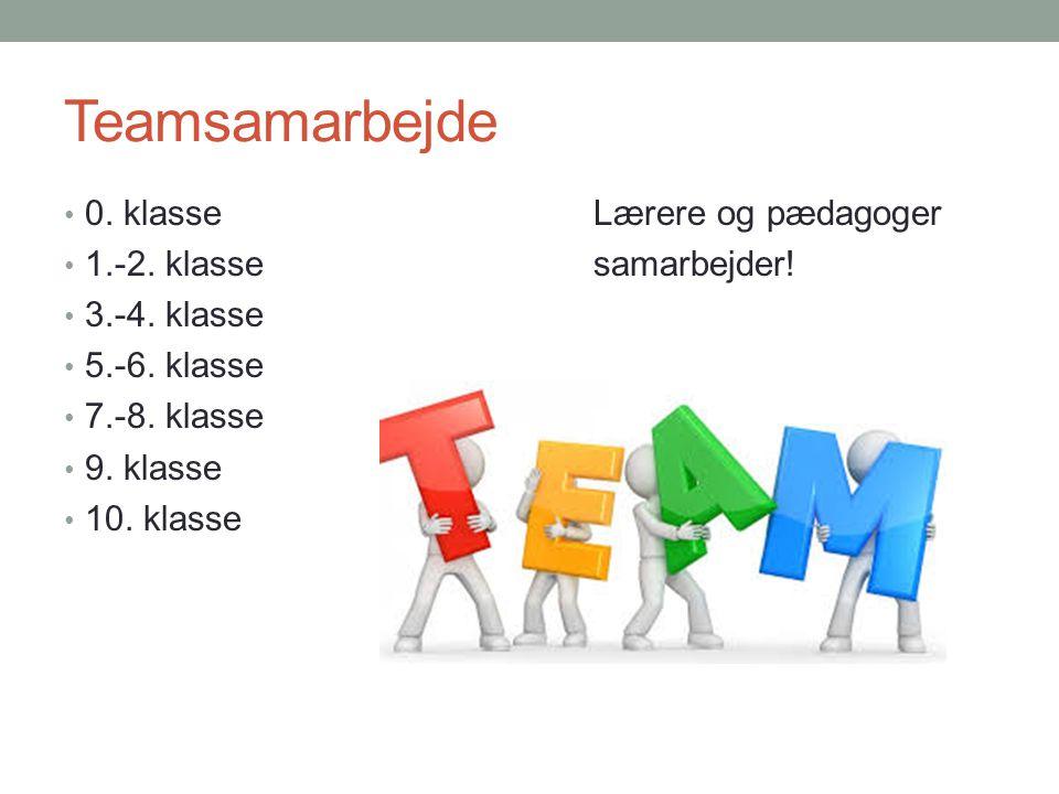 Teamsamarbejde 0. klasse Lærere og pædagoger 1.-2. klasse samarbejder!