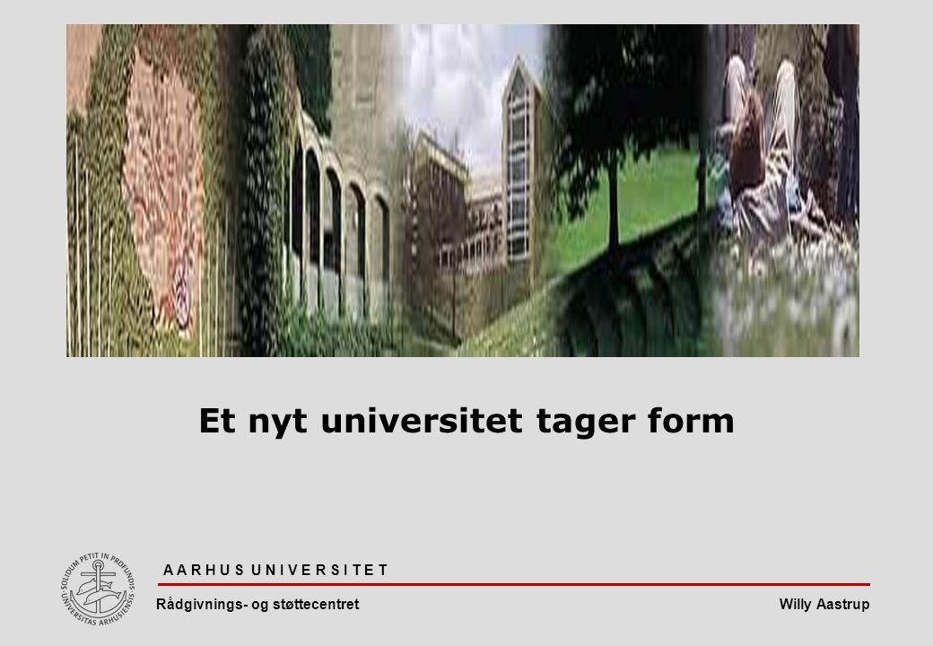 Et nyt universitet tager form