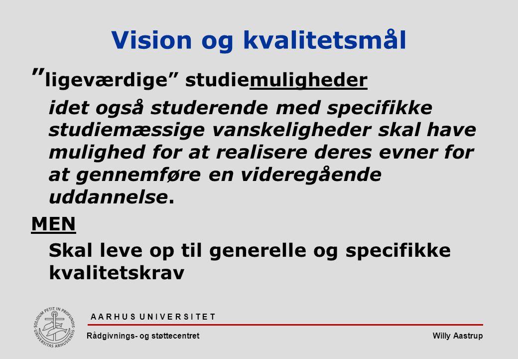 Vision og kvalitetsmål