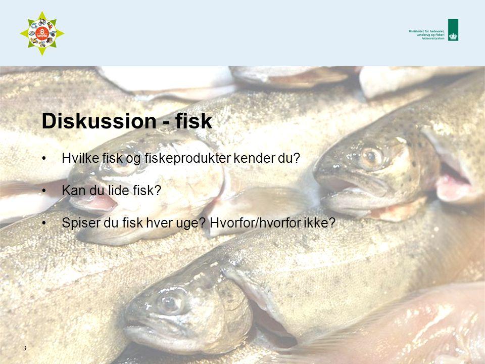 Diskussion - fisk Hvilke fisk og fiskeprodukter kender du