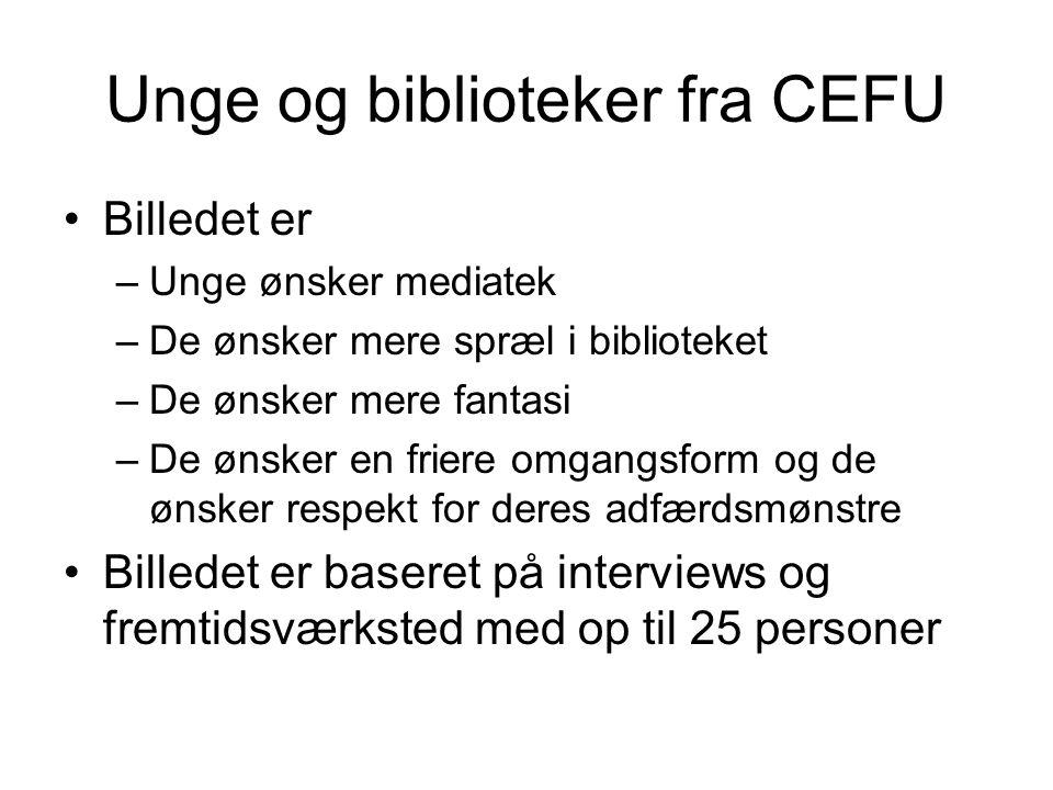 Unge og biblioteker fra CEFU