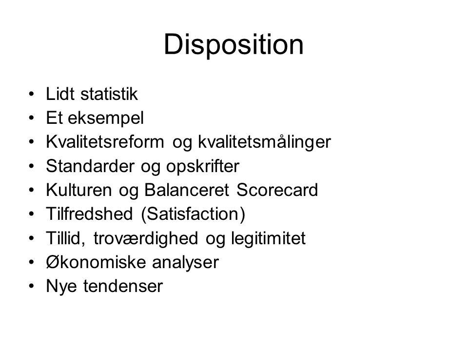 Disposition Lidt statistik Et eksempel