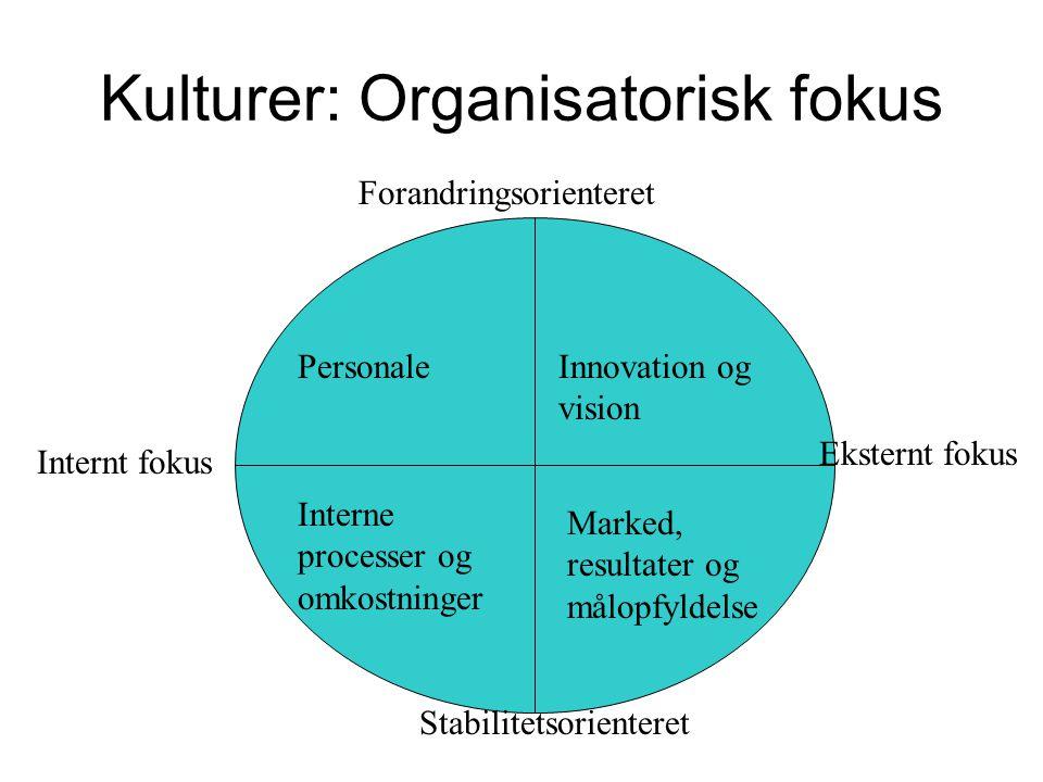Kulturer: Organisatorisk fokus