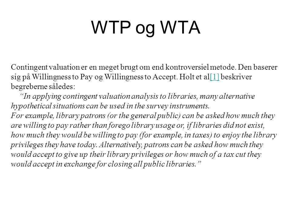WTP og WTA