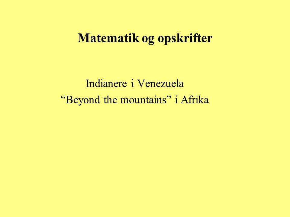Matematik og opskrifter
