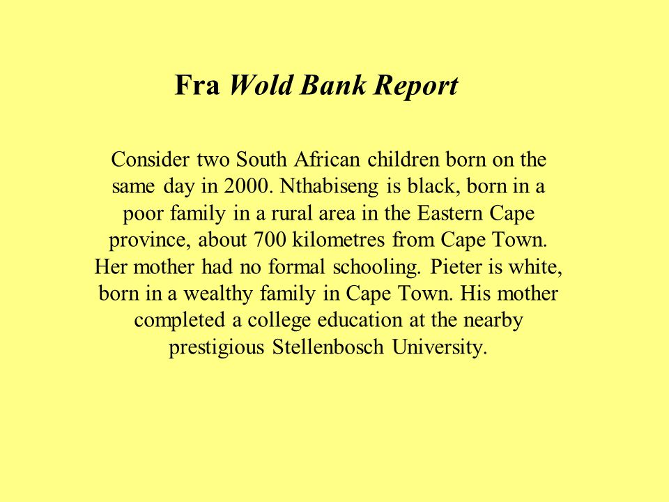 Fra Wold Bank Report