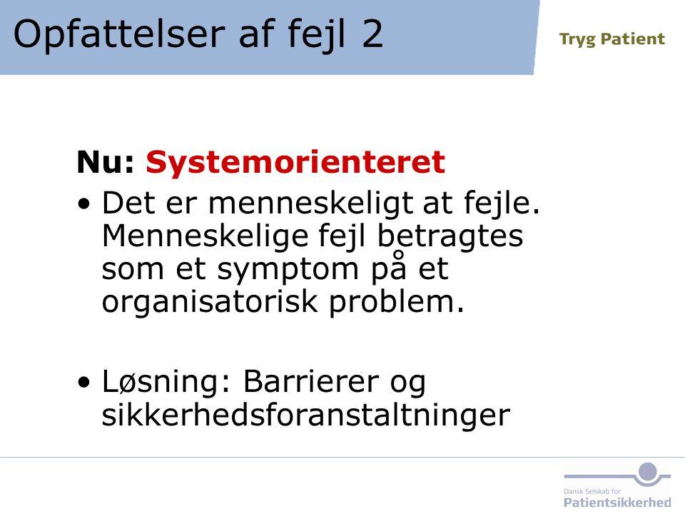 Opfattelser af fejl 2 Nu: Systemorienteret
