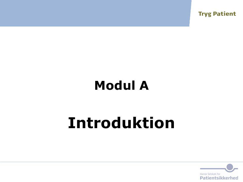 Modul A Introduktion Fortæl, at dagen er inddelt i fem moduler