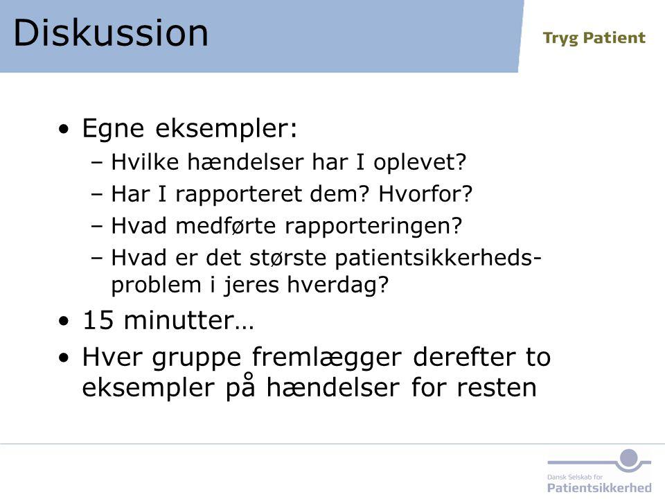 Diskussion Egne eksempler: 15 minutter…
