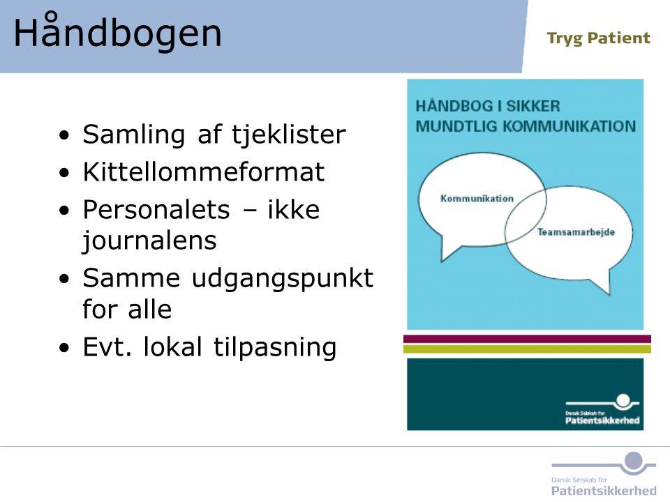 Håndbogen Samling af tjeklister Kittellommeformat
