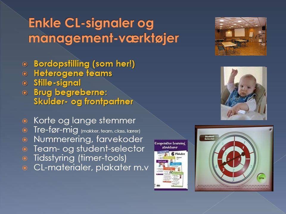 Enkle CL-signaler og management-værktøjer