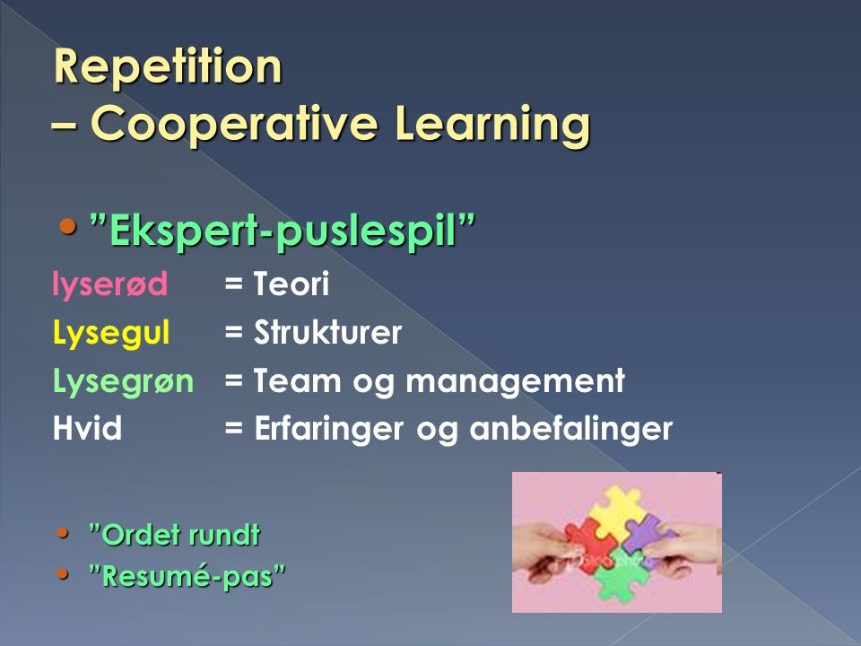 – Cooperative Learning