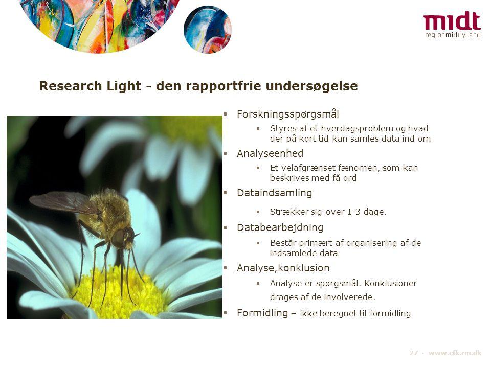 Research Light - den rapportfrie undersøgelse