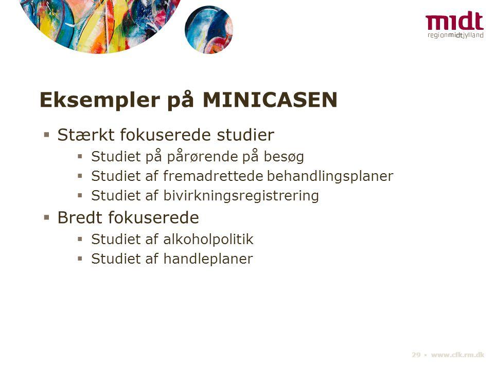 Eksempler på MINICASEN