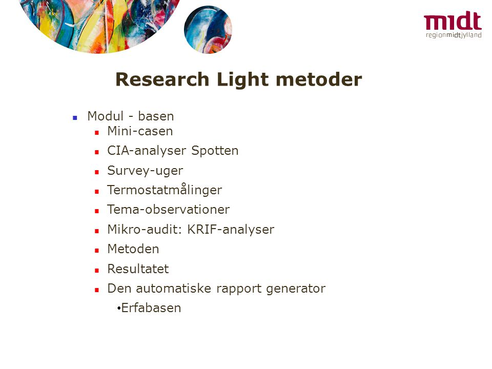 Research Light metoder