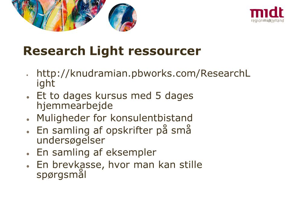 Research Light ressourcer
