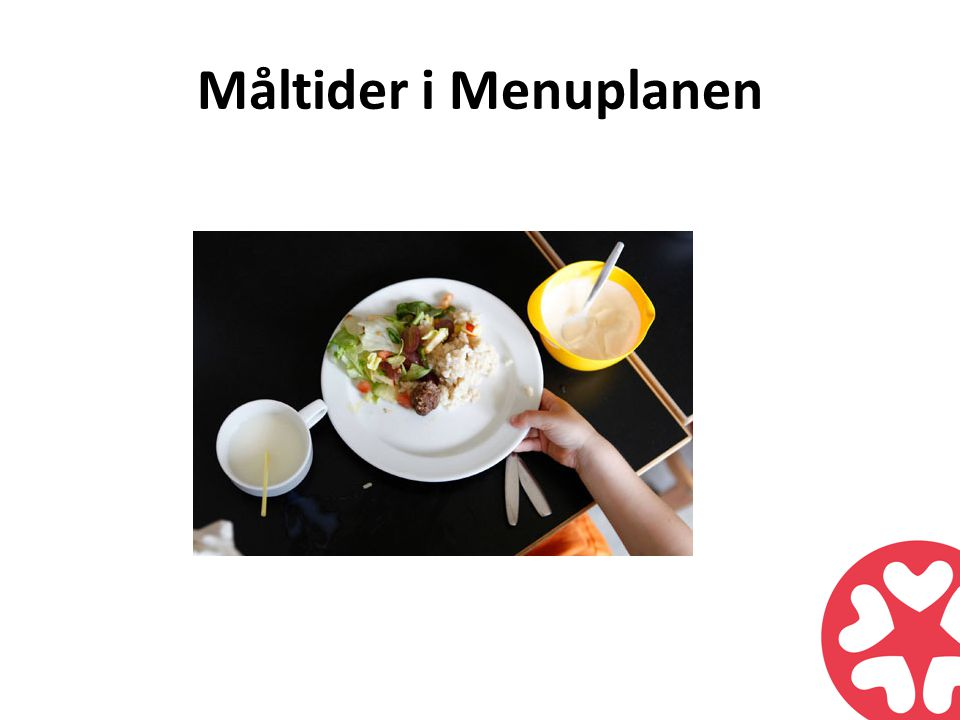Måltider i Menuplanen