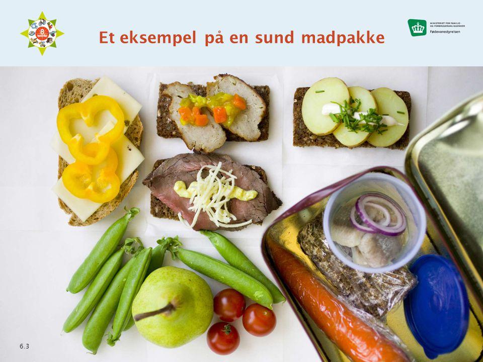 Et eksempel på en sund madpakke