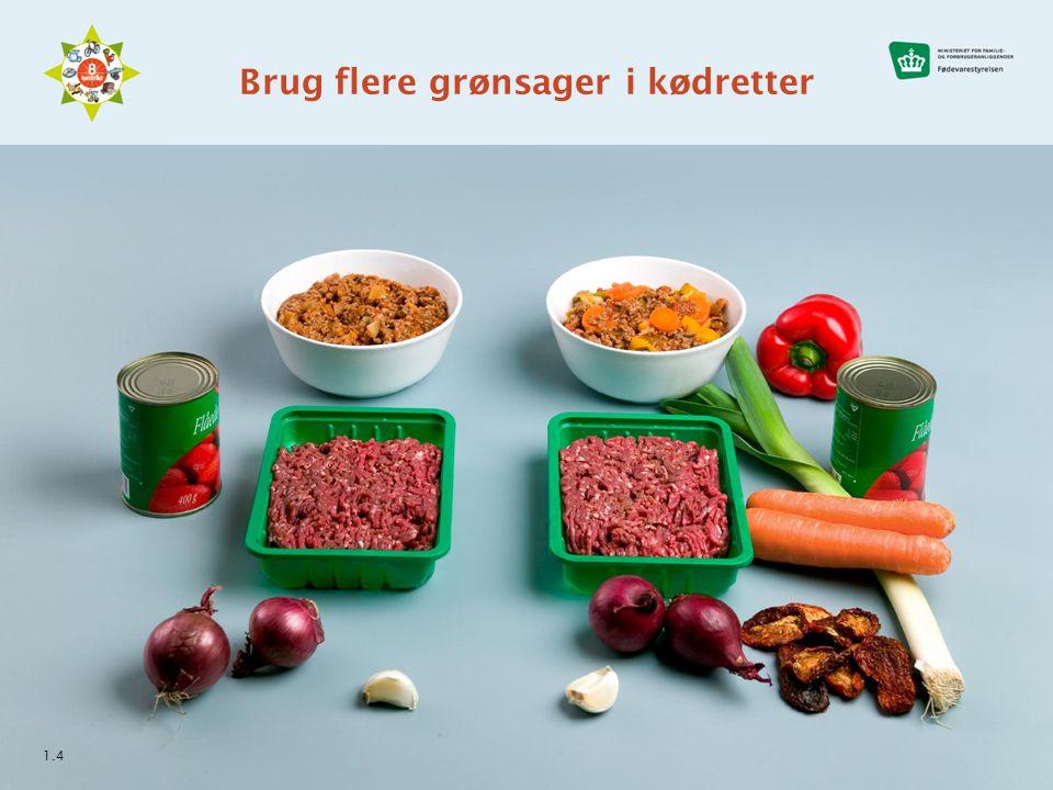 Brug flere grønsager i kødretter