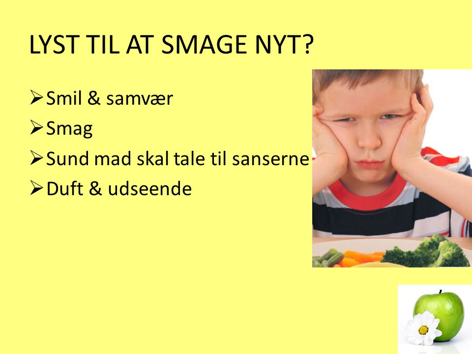 LYST TIL AT SMAGE NYT Smil & samvær Smag