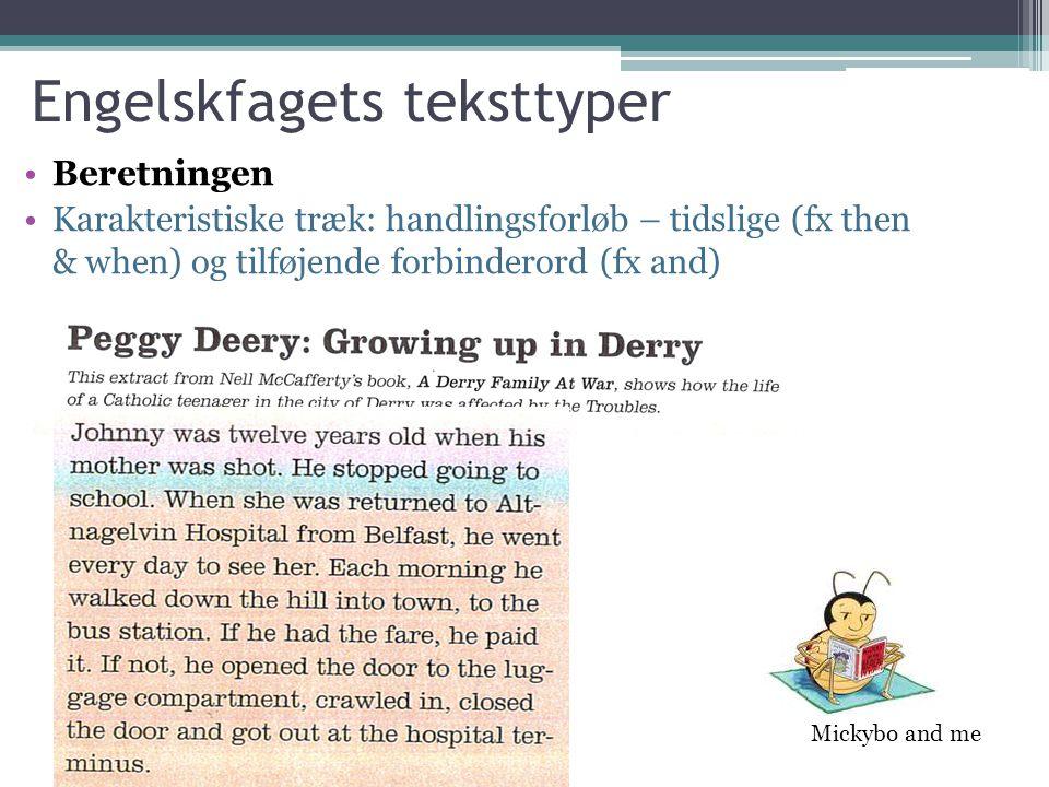 Engelskfagets teksttyper