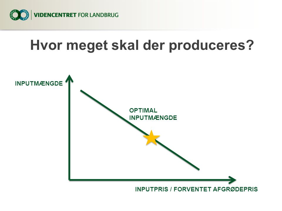 Hvor meget skal der produceres