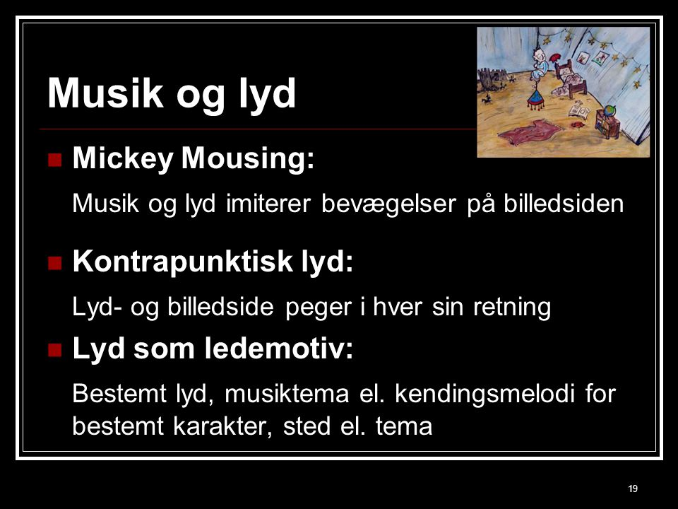 Musik og lyd Mickey Mousing: