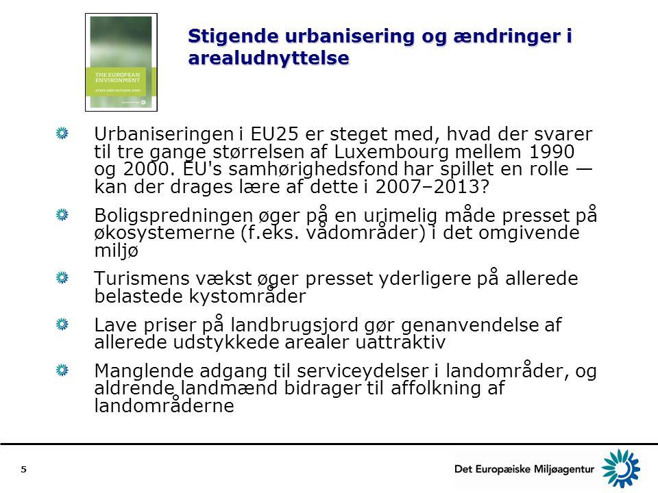 Stigende urbanisering og ændringer i arealudnyttelse