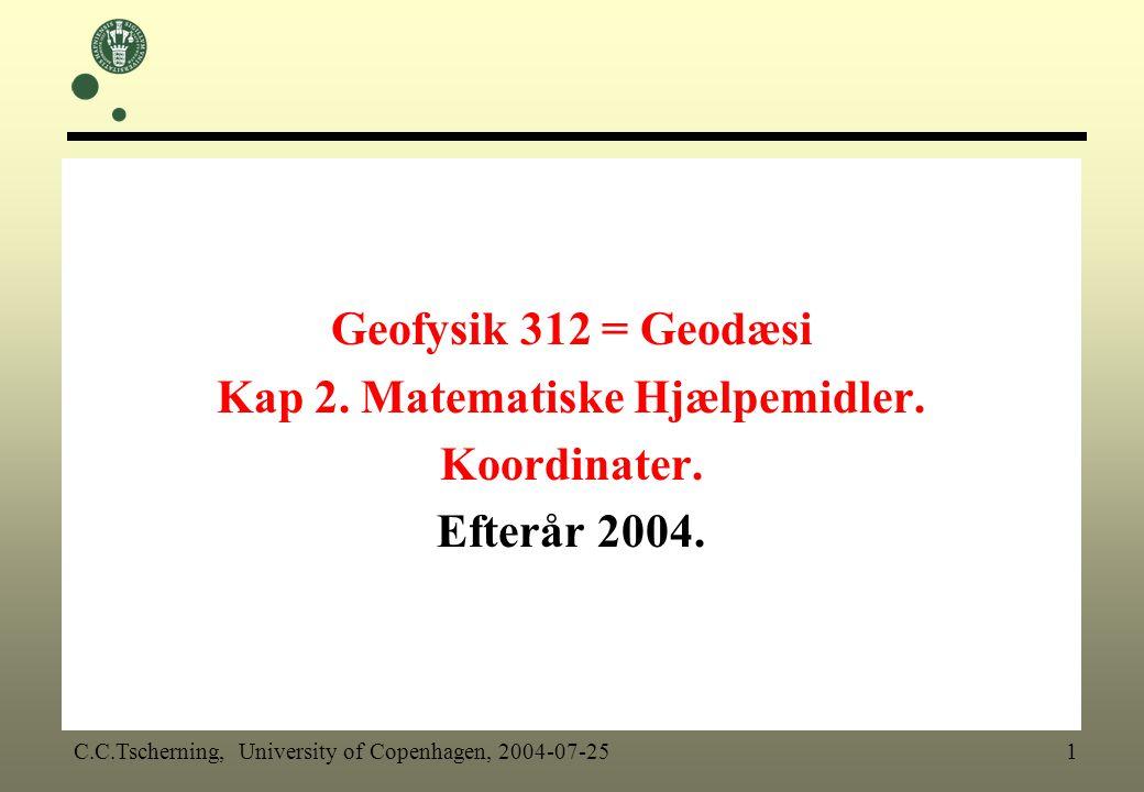 Kap 2. Matematiske Hjælpemidler.