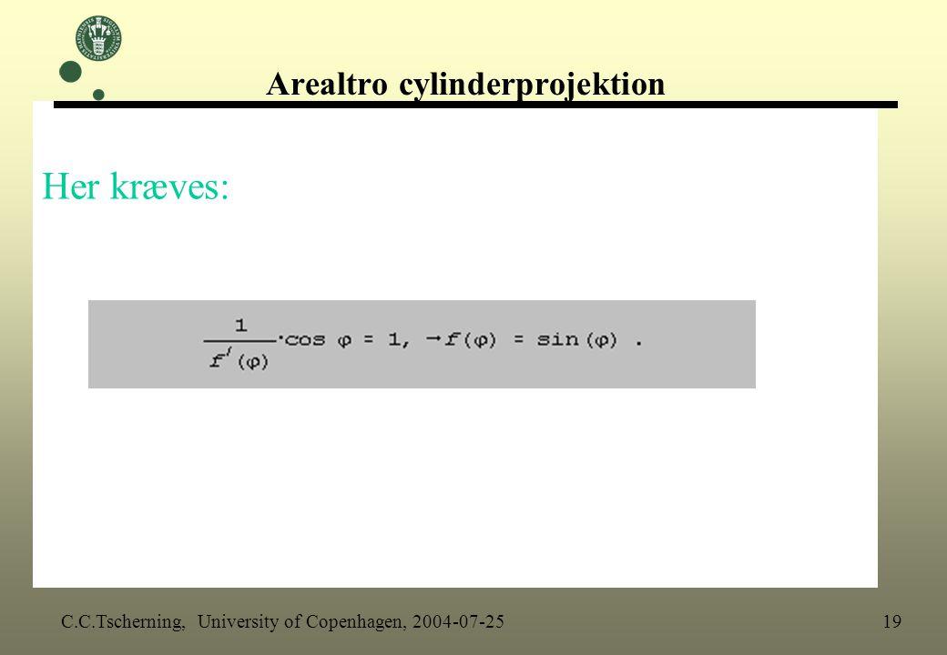 Arealtro cylinderprojektion