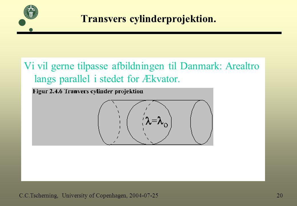 Transvers cylinderprojektion.