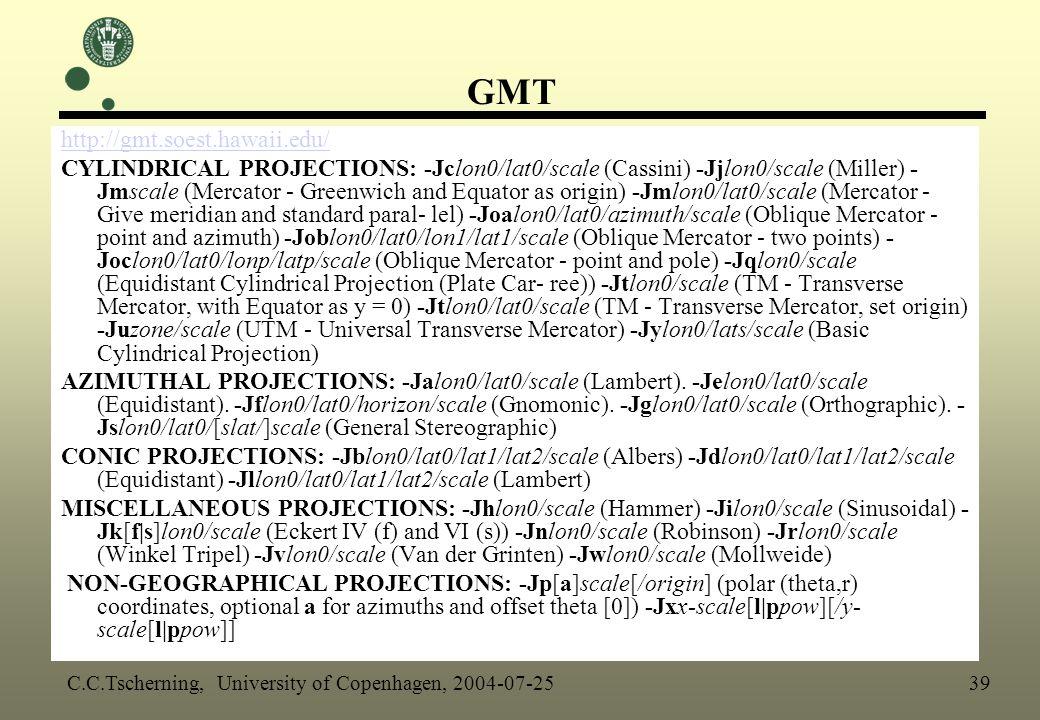 GMT http://gmt.soest.hawaii.edu/