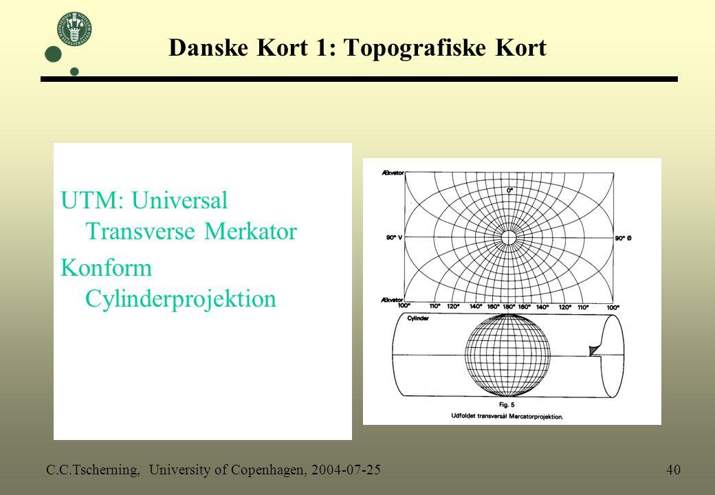 Danske Kort 1: Topografiske Kort