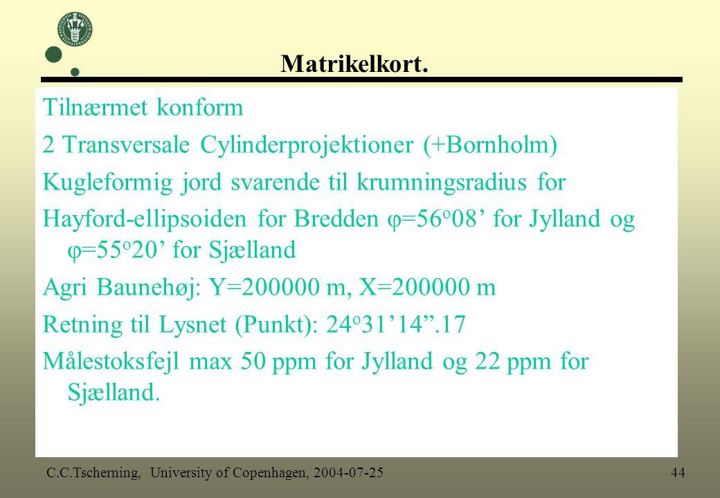 2 Transversale Cylinderprojektioner (+Bornholm)