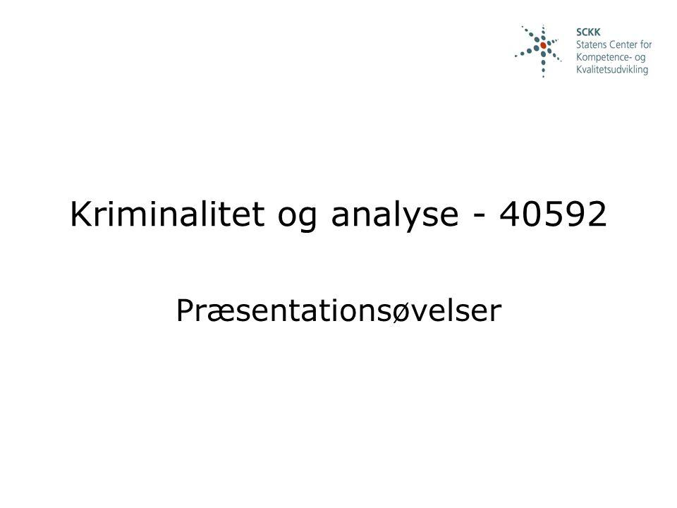 Kriminalitet og analyse - 40592