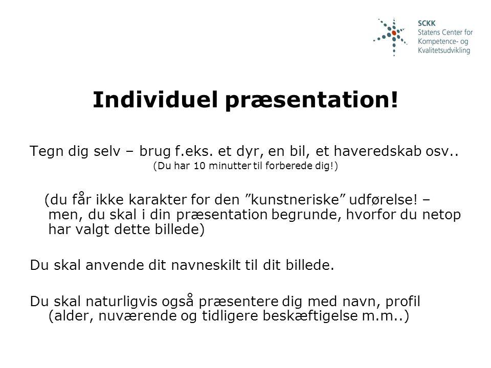 Individuel præsentation!