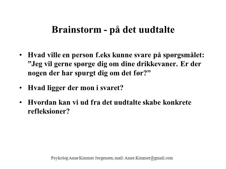Brainstorm - på det uudtalte