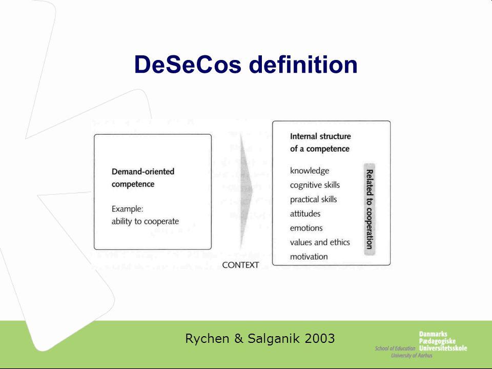 DeSeCos definition Rychen & Salganik 2003