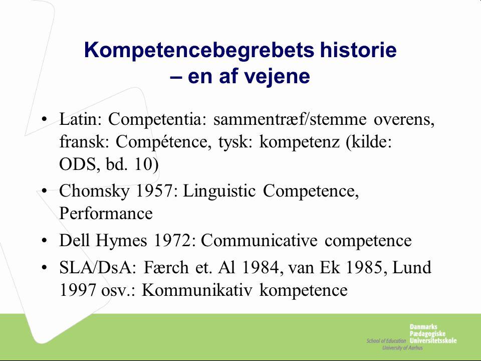 Kompetencebegrebets historie – en af vejene