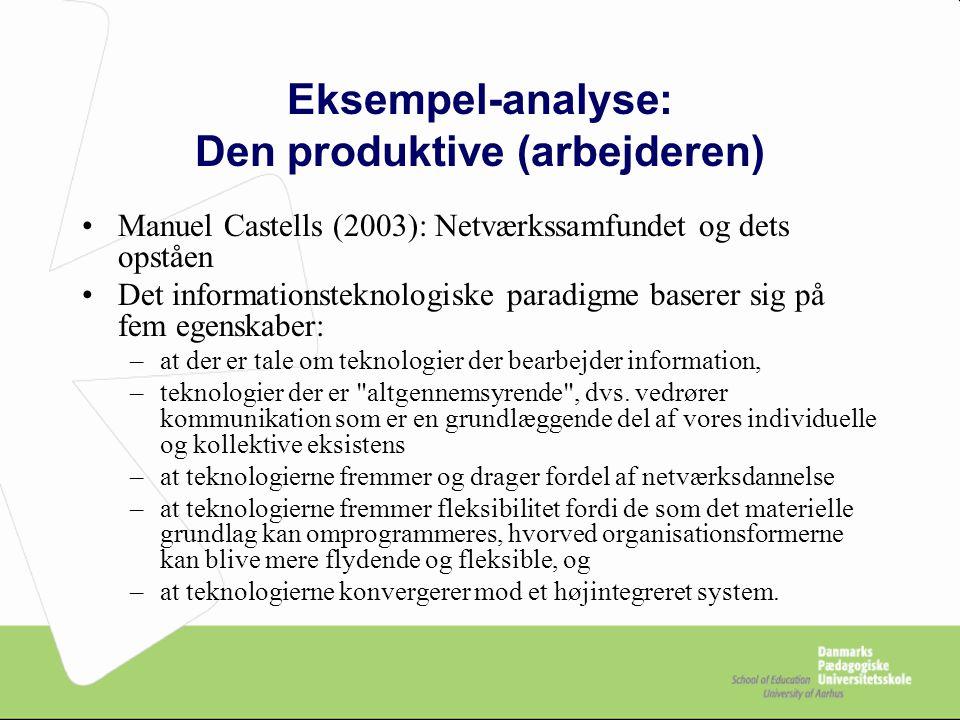 Eksempel-analyse: Den produktive (arbejderen)