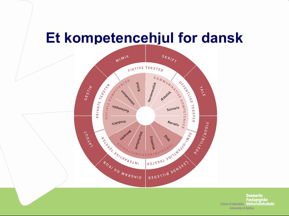 Et kompetencehjul for dansk